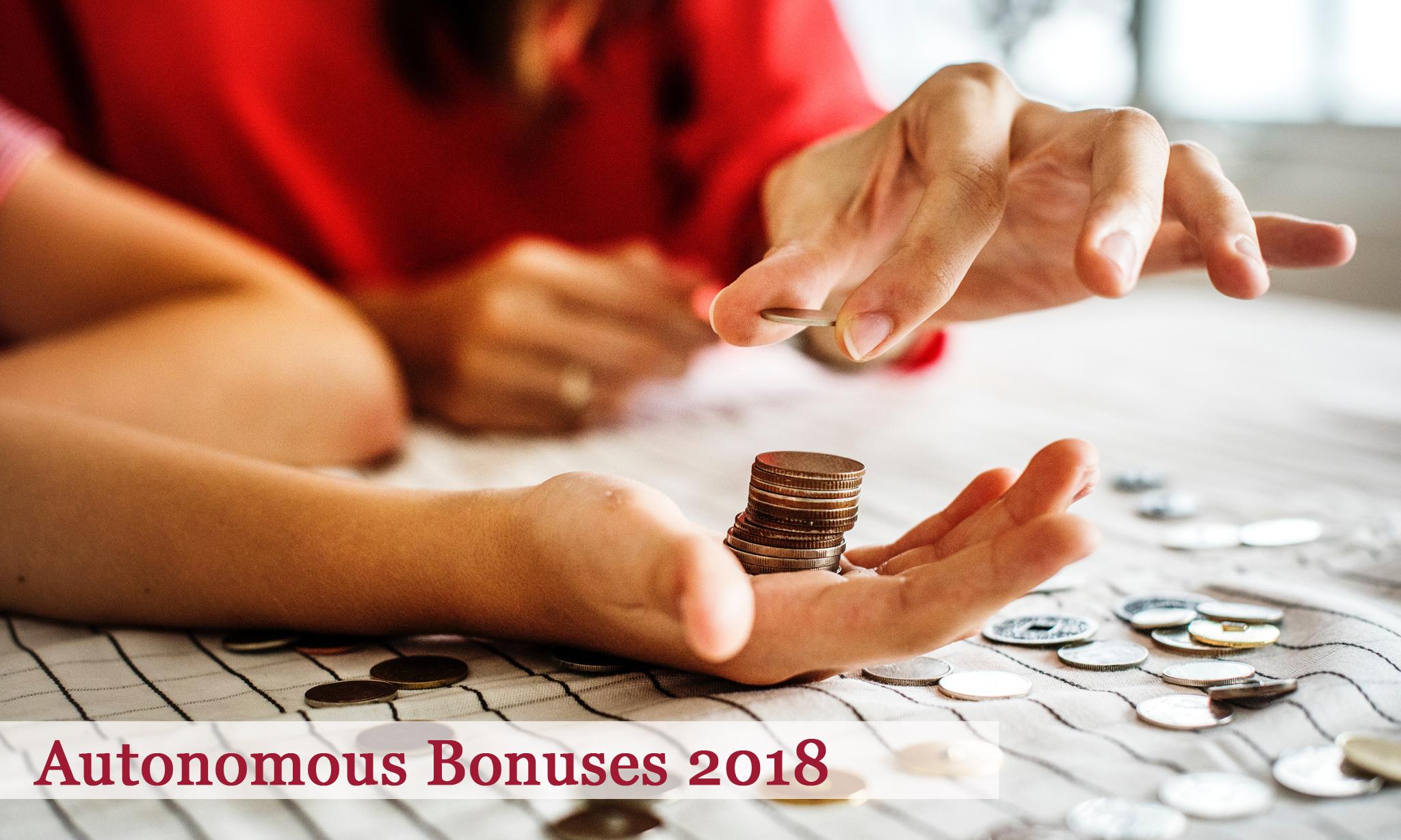 Autonomous Bonuses 2018